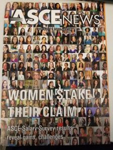 Women in ASCE Cover includes several Kansas City Section Civil Engineers