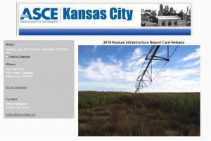 ASCE KS Infrastructure Report Card – Set to be released in Kansas City, KS – Tuesday, Ju