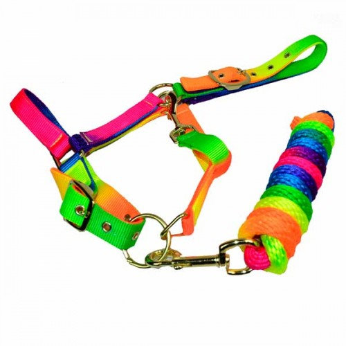 Rainbow Headcollar & Rope Set