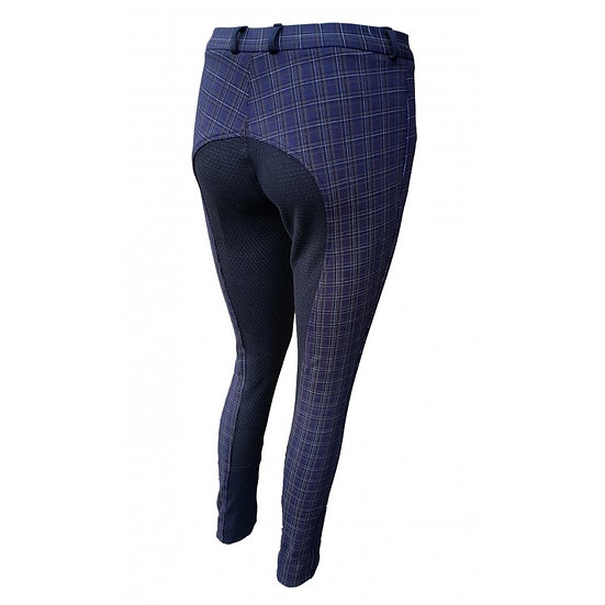 Checked Silicone Jodhpurs ( Full Seat Silicon)