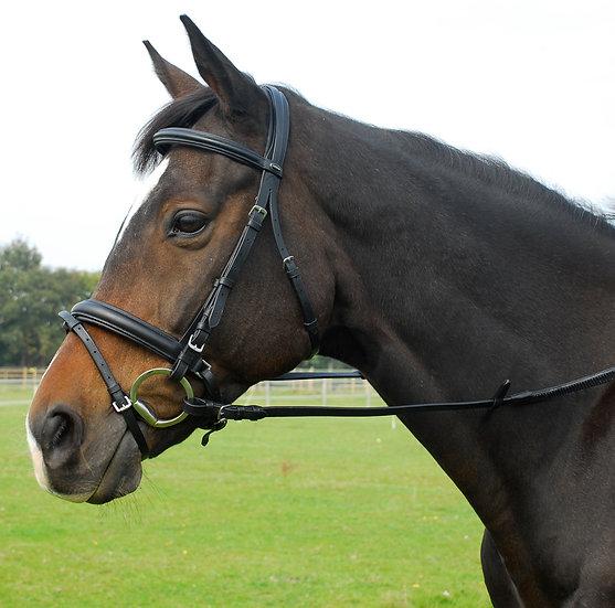 Heritage English Leather 'Comfort' Bridle With Flash Noseband
