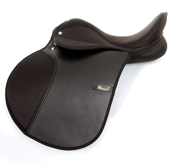 Rhinegold Synthetic General Purpose Saddle Extra Wide Fit