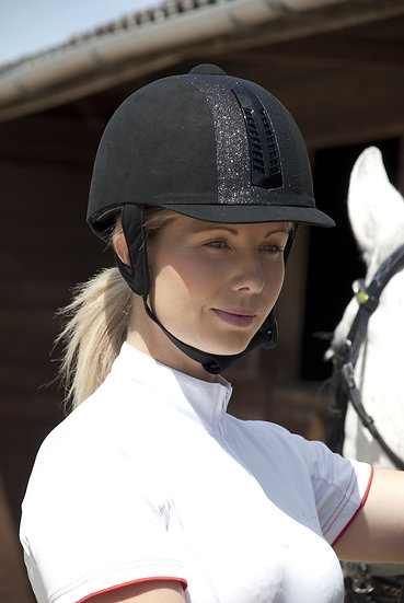 Rhinegold Glitter 'Pro' Riding Hat PAS 015 STANDARD