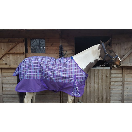 Sheldon 2019/20 Lightweight Summer Turnout Rug ( Purple Check)