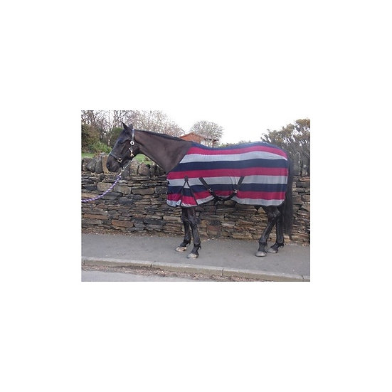 Sheldon Pony Striped Fleece Rug