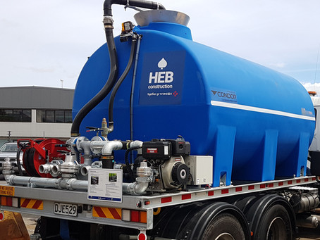 Customised Chassis Mount Water Carts for HEB