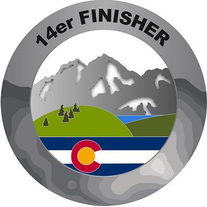 14er Finisher Medal