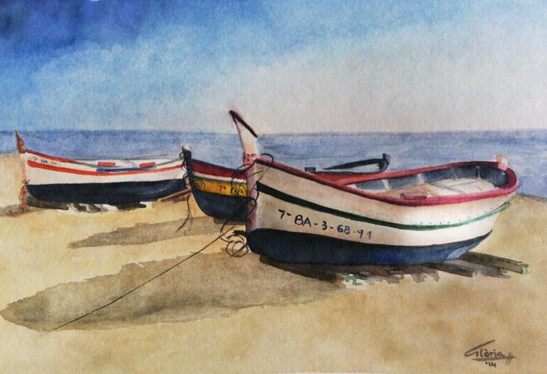 Boats (Watercolour, 2014)
