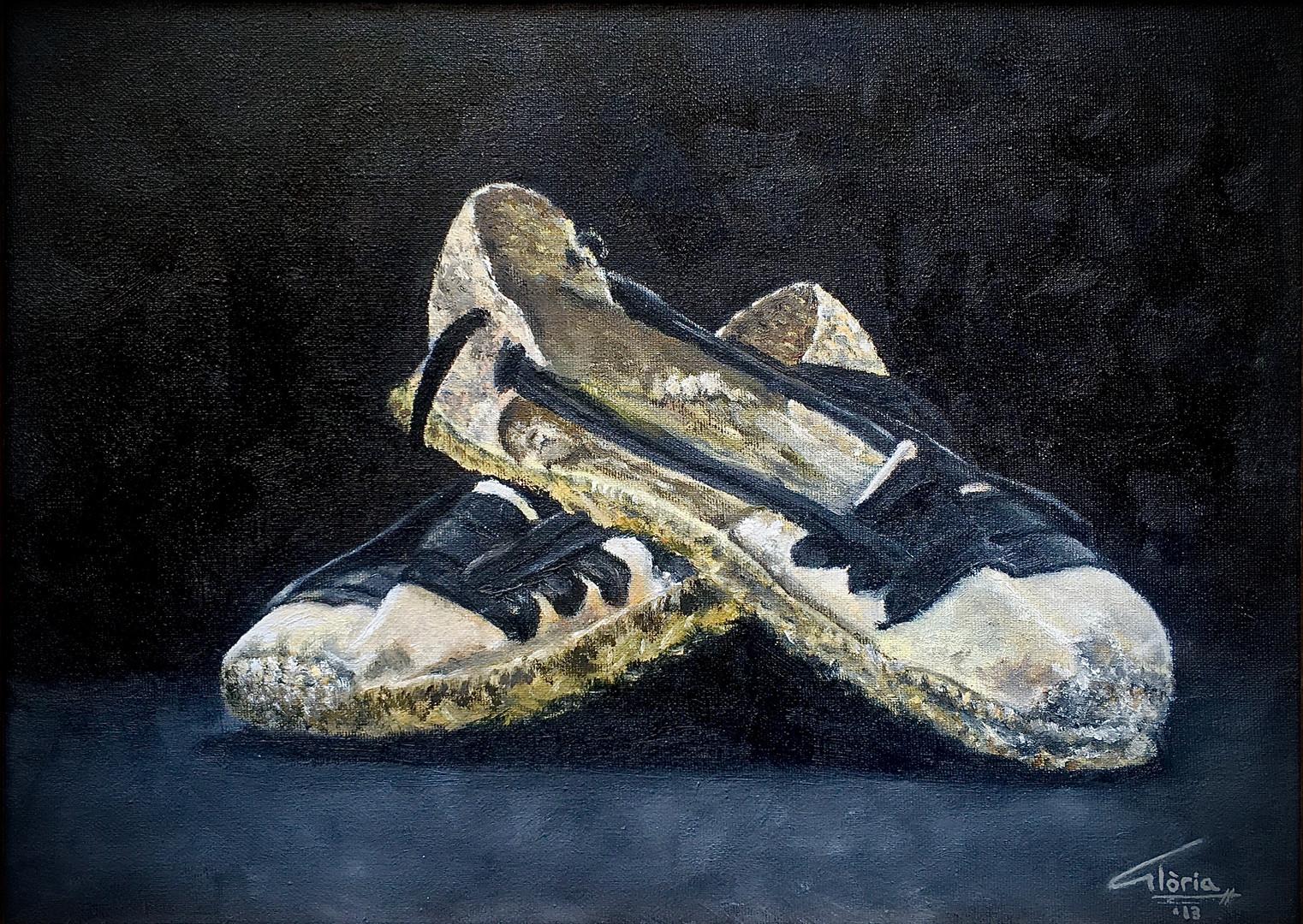 Espardenyes (Oil paint, 2013)