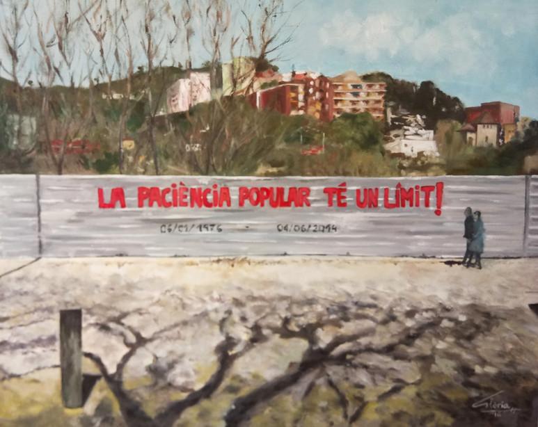 """""""La paciència té un límit"""" (Oil paint, 2016)"""