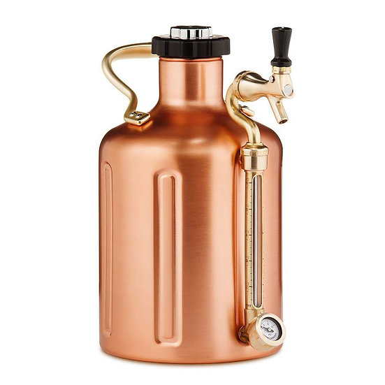 GrowlerWerks uKeg 128 copper-plated - 3.8 l