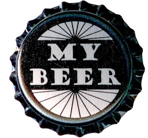 """MY BEER"" Bottle Caps 26mm - 100pcs"