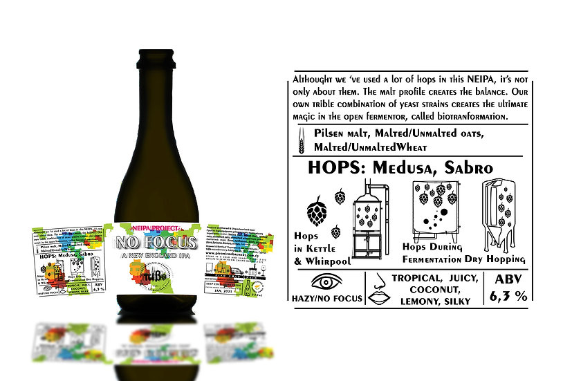 Pivo Microbrewery - NO FOCUS - Alcohol 6,3% Vol. 0,33L