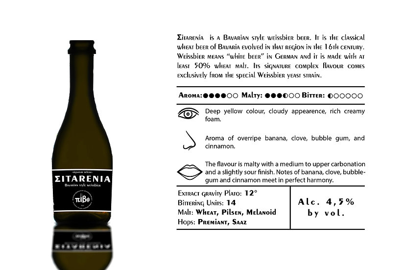 Pivo Microbrewery - ΣiTARENiA- Alcohol 4,5% Vol. 0,33L