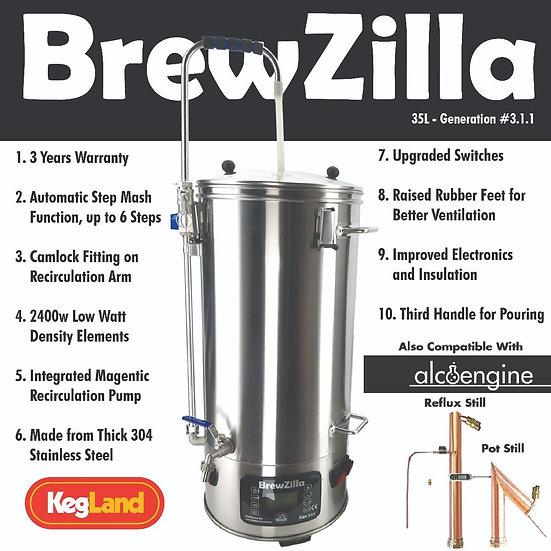 BrewZilla 35L Gen 3.1.1 - All Grain Brewing System