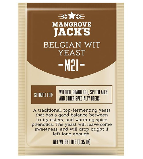 M21 Belgian Wit Yeast Mangrove Jack's 10g