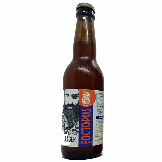 Octo Microbrewery - Lager - Cumbaros OCTOPUS - Alcohol 3,5% Vol. 0,33L