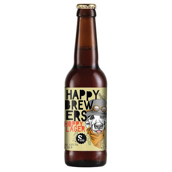 HAPPY BREWERS Hoppy Lager Alcohol 4,8% Vol. 0,33L