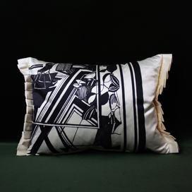 Pleated Silk Satin Cushion