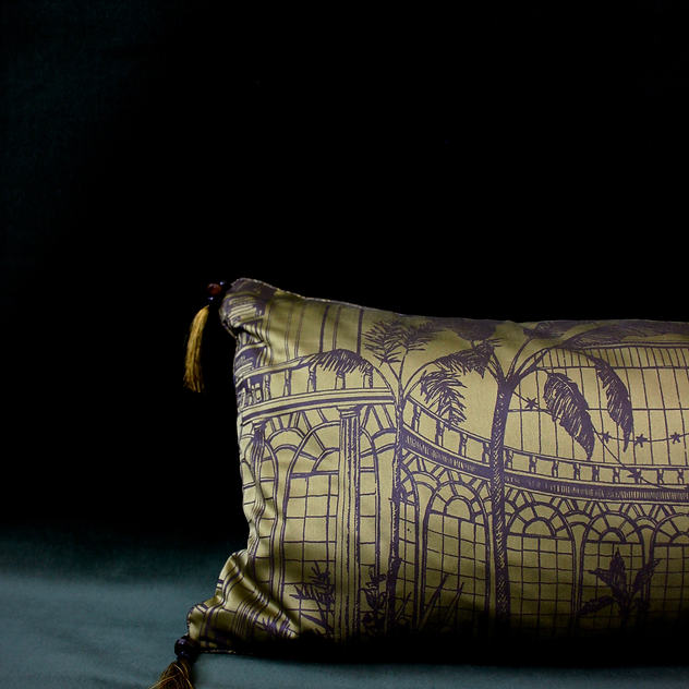 Silk Satin Bolster Cushion