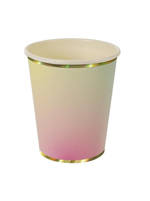 Парти чашки Омбре - 8 бр.
