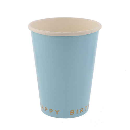 Светло сини парти чашки - 8 бр.