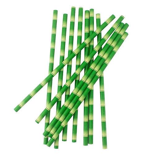 Хартиени сламки Бамбук - 25 бр.