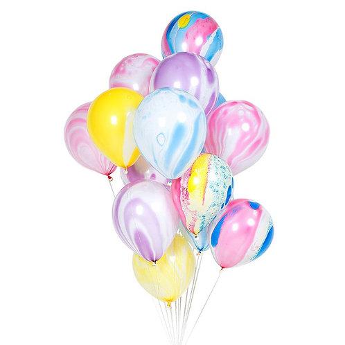 Латексови балони Marble - 10бр