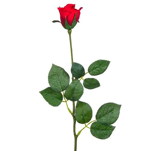 Изкуствена червена роза - 61 см