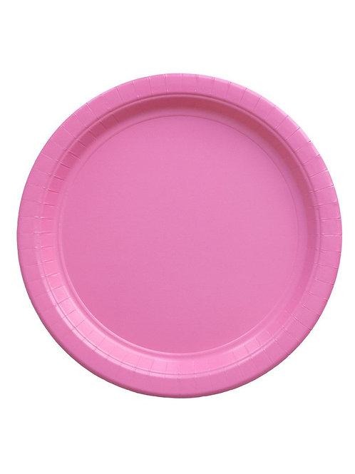 Парти чинийки Кръгли - Розови