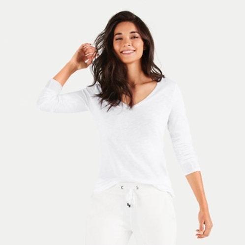 Tshirt manches longues blanc V- Juvia