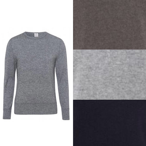 Cachemire/Seacell sweater with visible seam edges