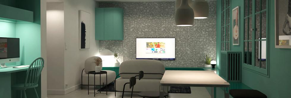N&V - L'Appartement Vert (Pièce de vie)