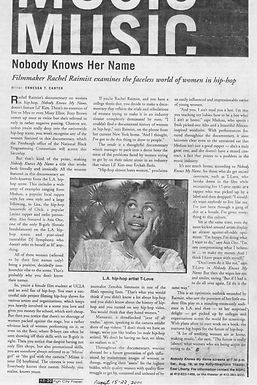 LA WEEKLY: Nobody Knows Her Name