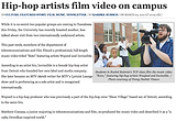 The CW: Hip-hop artists film video on campus