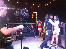 TCF students film R&B music video