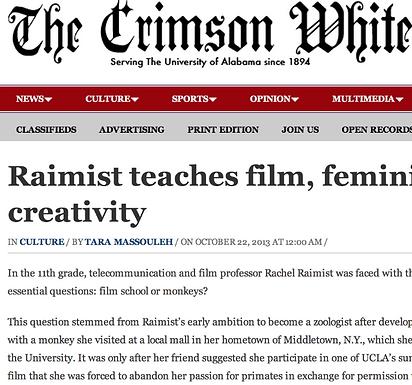 The CW: Raimist teaches film, feminism, creativity