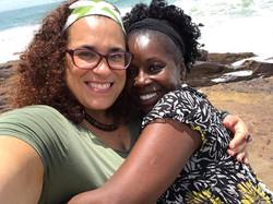 with Akosua Busia in Cape Coast