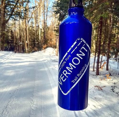 Blue Aluminum Reusable Water Bottle