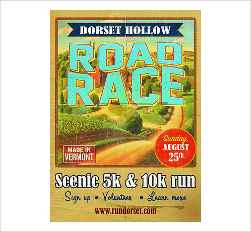 Dorset Hollow Road Race 2019 Poster
