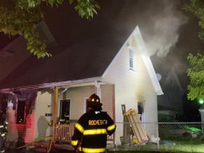 House fire on Emerson Street and Kestrel Street