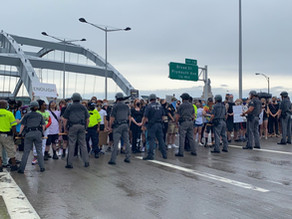 Protests on I-490 expressway In Rochester New York