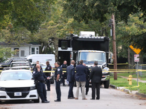 Officer down on Peck Street, stabbed in the face
