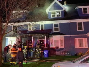 Dewey Avenue fire destroys home