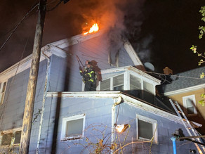 Difficult house fire on Texas Street