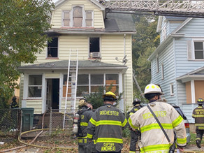 House fire on A place has 2 kids transported to the hospital
