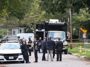 Officer down on Peck Street stabbed in the facial area