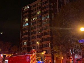 One person injured in high rise fire