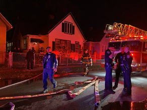 Structure fire on Princeton Street