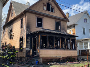 Fire on Ames Street leaves house destroyed